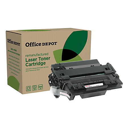 Office Depot® Brand OD55XP (HP 55X / CE255X) Remanufactured High-Yield Black Toner Cartridge