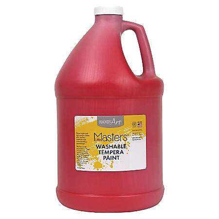 Handy Art Little Masters Washable Tempera Paint Gallon - 1 gal - 1 Each - Red