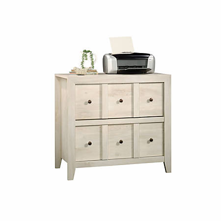 "Sauder® Anywhere Solutions Filing Cabinet, 2 Drawers, 33 1/2""H x 36 3/10""W x 19 1/2""D, Chalked Chesnut"