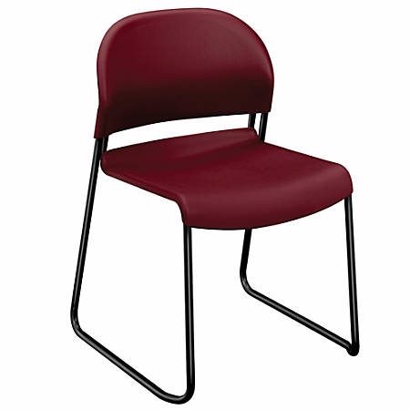 "HON® GuestStacker® 4030-Series Chairs, 31""H x 21""W x 21 1/2""D, Mulberry, Carton Of 4"