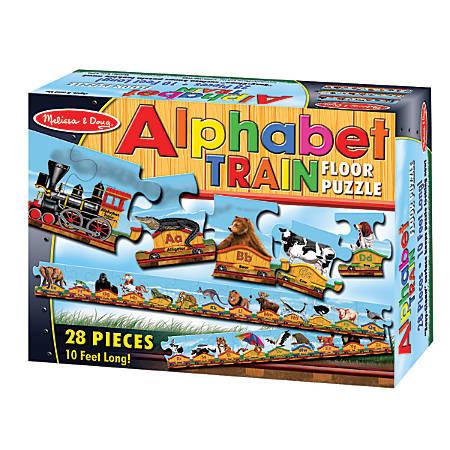 Melissa & Doug 28-Piece Alphabet Train Floor Puzzle