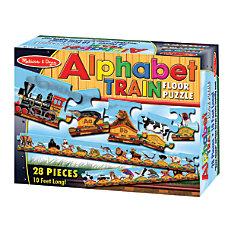 Melissa Doug 28 Piece Alphabet Train
