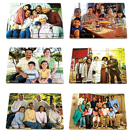 Melissa & Doug Multicultural 6-Piece Puzzle Set