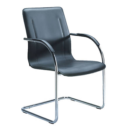 Boss Side Chairs, Black/Chrome, Set Of 4 Chairs