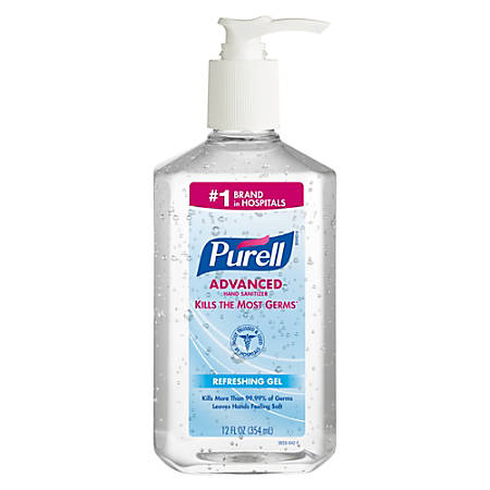 Purell® Instant Hand Sanitizer, 12 Oz. Pump Bottles, Carton Of 12