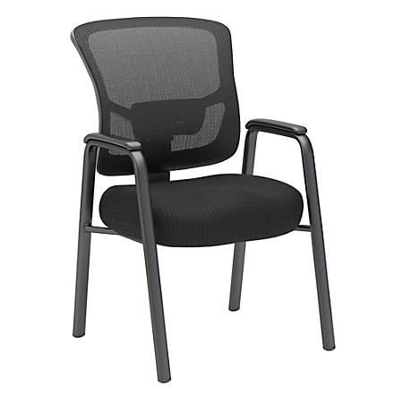 Bush Business Furniture Custom Comfort Mesh Back Guest Chair, Black, Standard Delivery