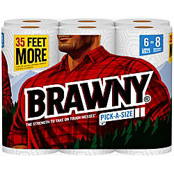 Brawny Pick A Size 2 Ply