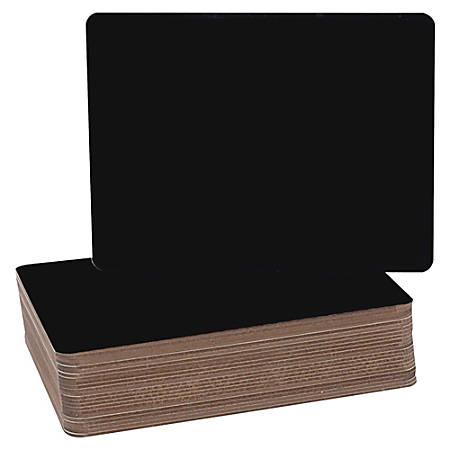 "Flipside Black Chalk Board Class Pack - 9.5"" (0.8 ft) Width x 12"" (1 ft) Height - Black Surface - Rectangle - 24 / Pack"