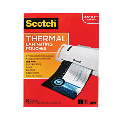 Scotch thermal laminating pouches letter size 50 pack by - Office depot customer service phone number ...