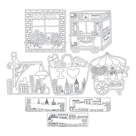Barker Creek®Accents, Double-Sided, Color Me! Cityscapes, Pack Of 36