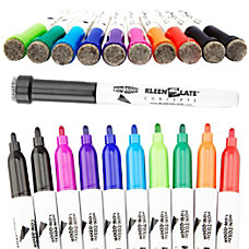 KleenSlate Dry Erase Markers With Erasers