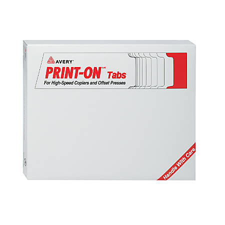 Avery® 30% Recycled 3-Hole-Punched Copier Tabs, White, 5 Tabs Per Set, Box Of 30 Sets