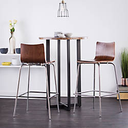 Holly Martin Blence Bar Stools WalnutChrome