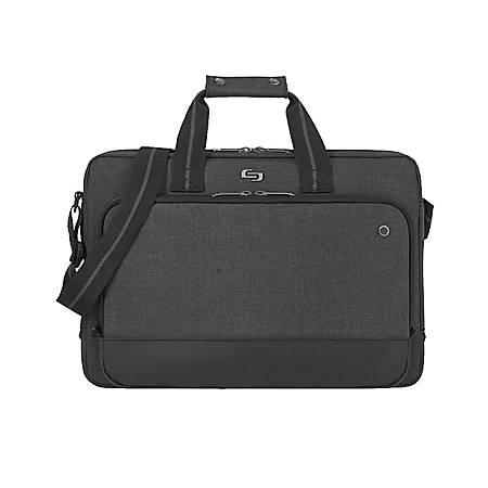 "Solo® Astor Slim Brief With 15.6"" Laptop Pocket, Gray"