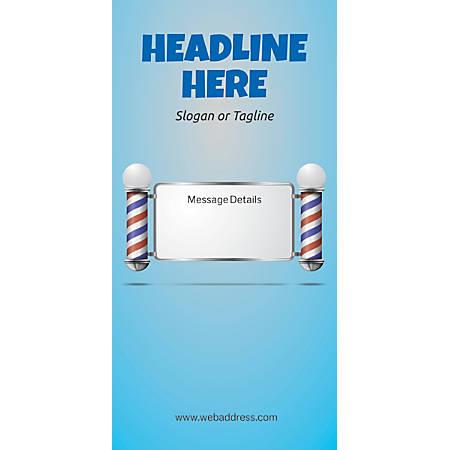 Custom Vertical Display Banner, Salon Pole