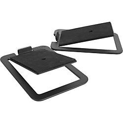 "Kanto S4 Desktop Speaker Stands for Midsize Speakers, Black - 16 lb Load Capacity - 2"" Height x 5.5"" Width x 7.9"" Depth - Desktop - Steel - Black"