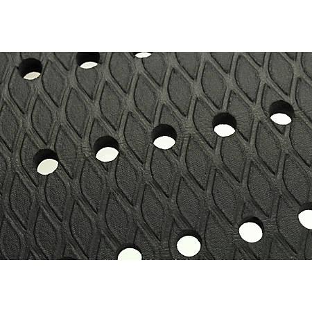 """M + A Matting  Cushion Max Floor Mat With Holes, 48"""" x 72"""", Black"""