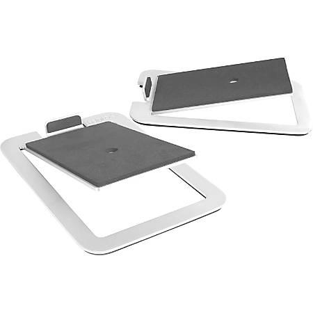"Kanto S4 Desktop Speaker Stands for Midsize Speakers, Aluminum - 16 lb Load Capacity - 2"" Height x 5.5"" Width x 7.9"" Depth - Desktop - Aluminum - Aluminum"