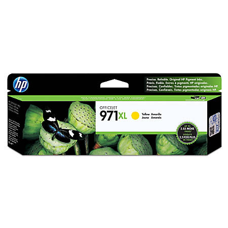 HP 971XL Yellow High-Yield Ink Cartridge (CN628AM)