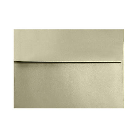 """LUX Invitation Envelopes With Moisture Closure, A7, 5 1/4"""" x 7 1/4"""", Silversand, Pack Of 500"""