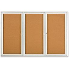 Quartet Fully Enclosed Bulletin Board 3