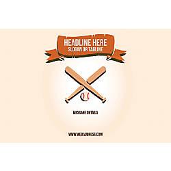 Custom Horizontal Poster Baseball