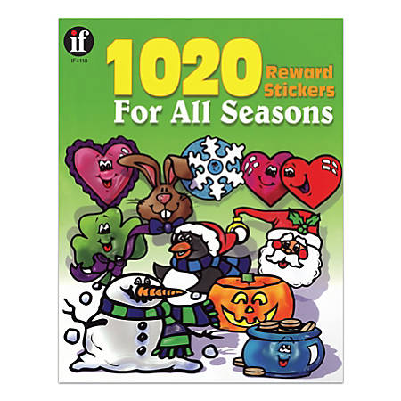 "Instructional Fair Reward Stickers For All Seasons, 1 1/4"" x 1"", Multicolor, Pack Of 1,020"
