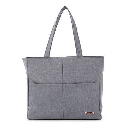 Swiss Mobility Women S Sterling Tote Bag With 15 6 Laptop Pocket Gray Item 7560161