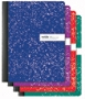 """Office Depot® Brand Marble Composition Book, 7 1/2"""" x 9 3/4"""", Wide Ruled, 100 Sheets, Assorted Colors (No Color Choice)"""