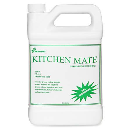SKILCRAFT® Kitchen Mate Dishwashing Detergent, 128 Oz., Pack Of 6 (AbilityOne 7930-00-880-4454)