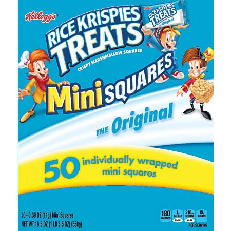 Rice Krispies Treats Minis, 19.5 Oz, Box Of 50