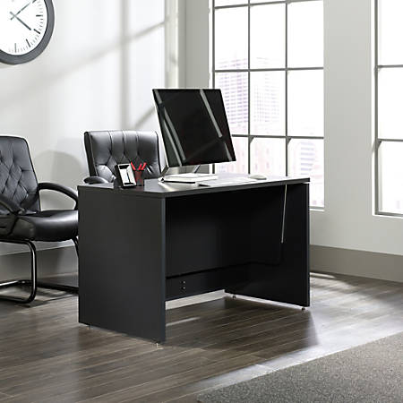 Sauder® Via Sit-Stand Desk, Bourbon Oak