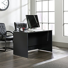 Sauder Via Sit Stand Desk Bourbon