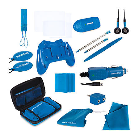 DreamGear Nintendo 3DS 20-In-1 Essentials Kit, Blue