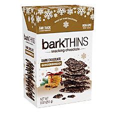 barkTHINS Dark Chocolate Gingerbread 9 Oz