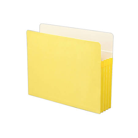 """Smead® Color File Pockets, Letter Size, 3 1/2"""" Expansion, 9 1/2"""" x 11 3/4"""", Yellow"""