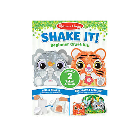 Melissa & Doug Children's Educational Toys, Safari Shake It! Beginner Craft Kit