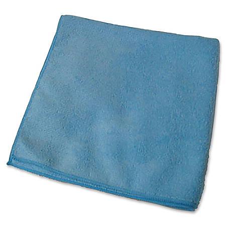 "Genuine Joe General Purpose Microfiber Cloth - Cloth - 16"" Width x 16"" Length - 180 / Carton - Blue"