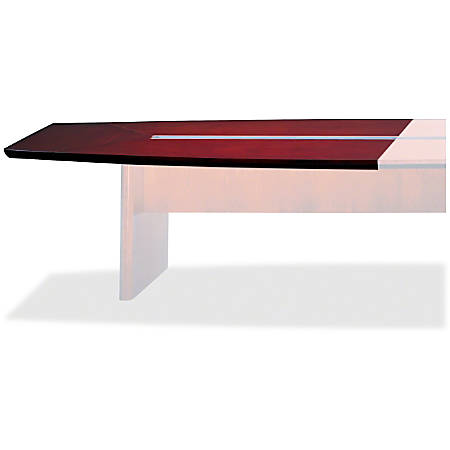 "Mayline Corsica Conference Tables Starter Tabletop - 72"" Table Top Length x 54"" Table Top Width x 2"" Table Top Thickness - Assembly Required - Lacquer, Mahogany"
