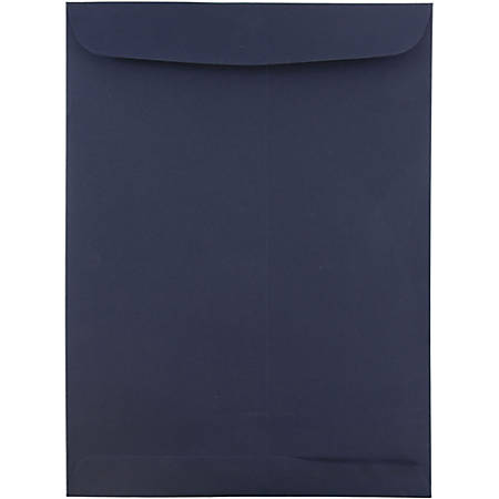 """JAM Paper® Open-End Envelopes With Gum Closure, #10 1/2 Catalog, 9"""" x 12"""", Navy Blue, Pack Of 25"""