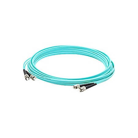 AddOn 8m ST (Male) to ST (Male) Aqua OM4 Duplex Fiber OFNR (Riser-Rated) Patch Cable