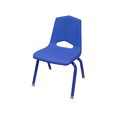 "Marco Group Stacking Chairs, 22""H, Blue/Blue, Pack Of 6"