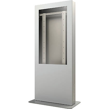 "Peerless-AV Portrait Kiosk Enclosure fits Most 42"" Displays Up to 4"" (101mm) Thick - Up to 42"" Screen Support - 75 lb Load Capacity - Flat Panel Display Type Supported28"" Width - Silver"