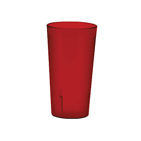 Winco Pebbled Tumblers, 20 Oz, Red, Pack Of 12 Tumblers