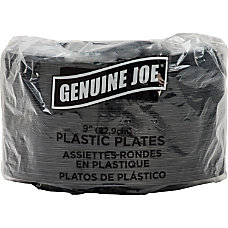 Genuine Joe 9 Round Plastic Plates