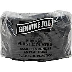 Genuine Joe 9 Round Plastic Plates