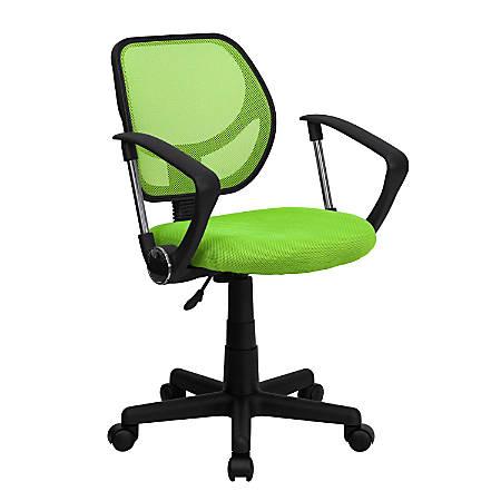 Flash Furniture Mesh Low-Back Swivel Task Chair, Green/Black