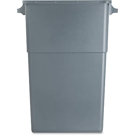 """Genuine Joe Space-Saving Waste Container, 23 Gallons, 30"""" x 16 3/4"""" x 9 1/2"""", Gray"""