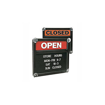 "Office Depot® Brand Double-Sided Open/Closed Message Board, 13 1/8"" x 15 1/8"""