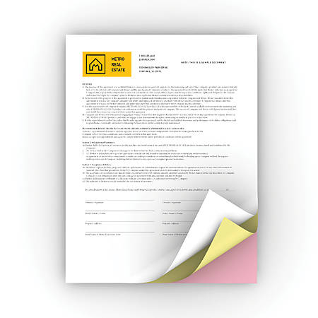 Xerox® Revolution™ Premium Digital Carbonless Paper, 3-Part Straight, Letter Size, White/Canary/Pink, Straight Collation, Box Of 1,670 Sets
